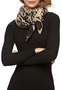 REED Ocelot Oblong Scarf $38 thestylecure.com