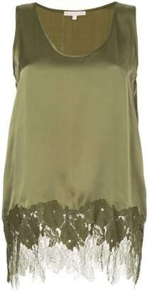 Gold Hawk lace insert blouse