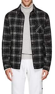 Aztech Mountain Men's Lenado Plaid Wool-Blend Shirt Jacket - Black