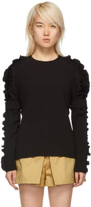 Chloé Black Ruched Blouse