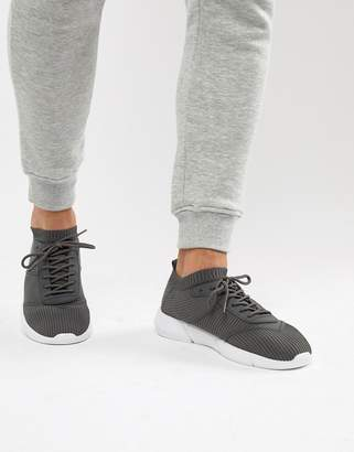 Asos Design DESIGN sock trainers in grey knit