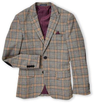 Isaac Mizrahi Boys 8-20) Grey Plaid Blazer