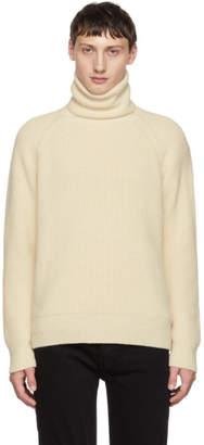 Christian Dada White Rib Knit Sweater