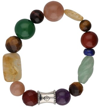 """Elyse Ryan Sterling Deep Gemstone """"Wrist Rocks""""Bracelet"""