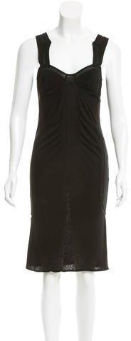 GucciGucci Sheer-Trimmed Cutout Dress