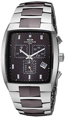 Oasis Oniss Paris Men's 'OASIS TUNGSTEN COLLECTION' Swiss Quartz Silver-Tone and Ceramic Sport Watch