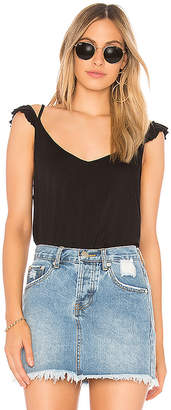 Chaser Cool Jersey Ruffle Strap Cami