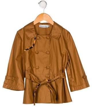 Christian Dior Girls' Double-Breasted Jacket