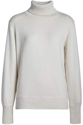 Burberry Collection logo intarsia high lapel cashmere sweater