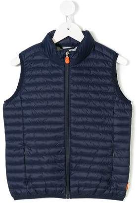 Save The Duck Kids quilted zip-up gilet