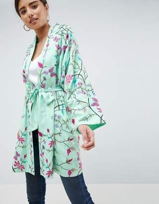 Asos DESIGN Embroidered Kimono