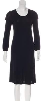 Burberry Long Sleeve Midi Dress