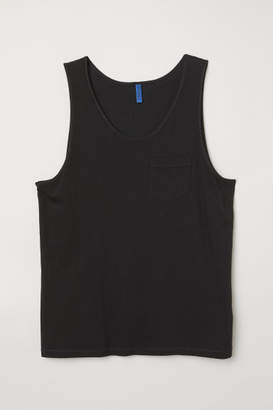H&M Tank Top with Chest Pocket - Black