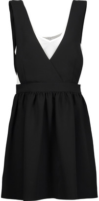 Sandro Riley layered crepe mini dress $325 thestylecure.com