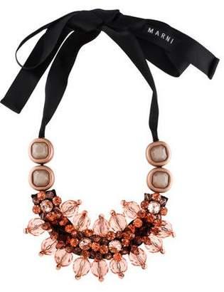 Marni Crystal Ribbon Necklace