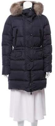 Moncler Fragonette Fur-Trimmed Coat