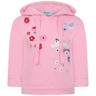 Simonetta SimonettaPink Embroidered Hooded Sweater