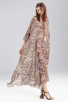 Josie Natori Shadow Leopard Caftan