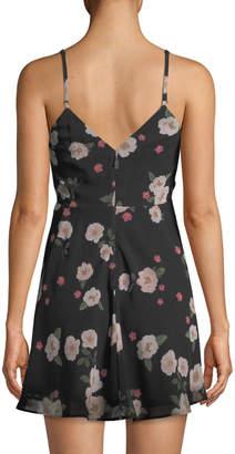 Neiman Marcus La Maison Talulah Heaven Sent Ruched Floral Mini Dress