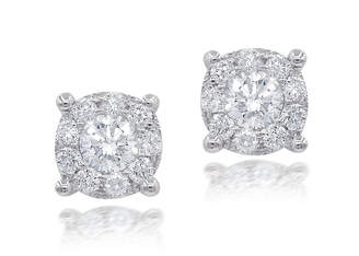 Neiman Marcus Diamonds 18k Diamond Stud Earrings, 0.35tcw