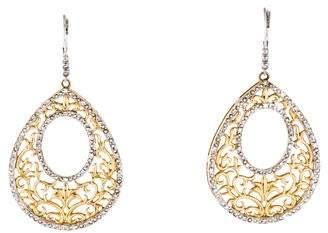 14K Diamond Filigree Drop Earrings
