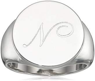 N. Tone Cursive Signet Ring