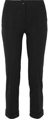 Etro Stretch-cotton Twill Slim-leg Pants - Black