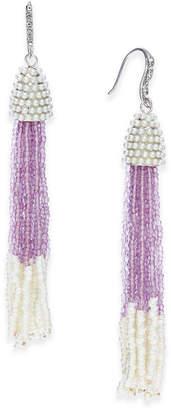 INC International Concepts I.N.C. Bead & Pavé Tassel Drop Earrings, Created for Macy's