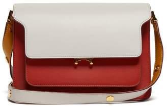 Marni Trunk Medium Leather Shoulder Bag - Womens - Red Multi