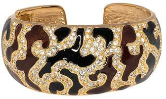 Kenneth Jay Lane Black/Brown Enamel Cuff Bracelet