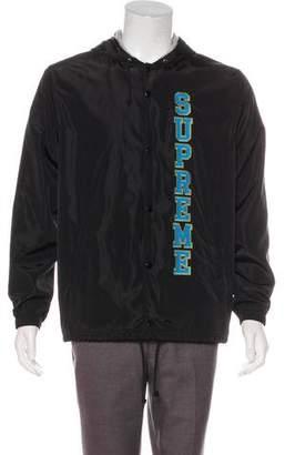 Supreme 2017 Vertical Logo Hooded Jacket