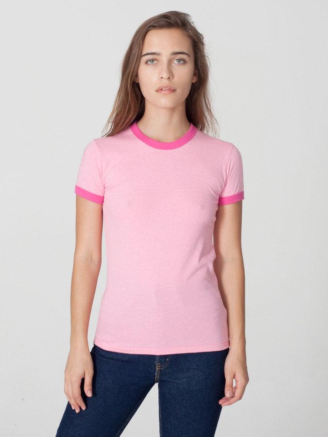 American Apparel Mélange Jersey Short Sleeve Gym T