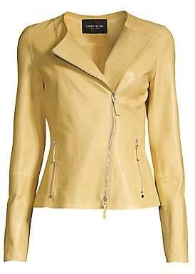 Lafayette 148 New York Women's Trista Glazed Weightless Lambskin Jacket