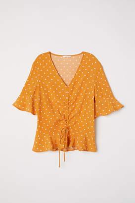 H&M Drawstring Blouse - Yellow