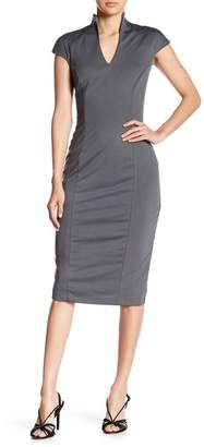 Alexia Admor V-Neck Midi Dress