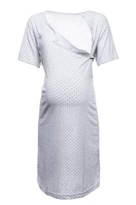 Happy Mama. Womens Maternity Hospital Gown Nightie Polka Dot Breastfeeding. 115p (, US 6, M)