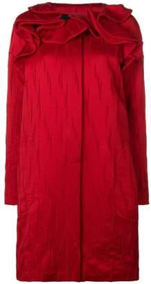 Capucci textured ruffle detail coat