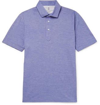 Brunello Cucinelli Slim-Fit Mélange Cotton Polo Shirt