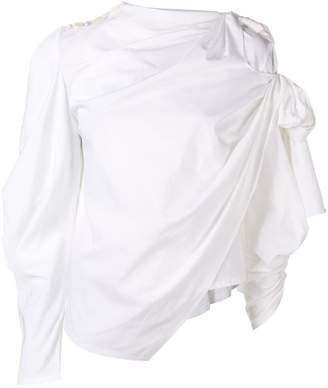 a54f4d4d330cf A.W.A.K.E. Mode ruched asymmetric blouse