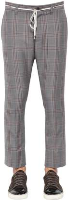 Lanvin Plaid Wool Blend Trousers
