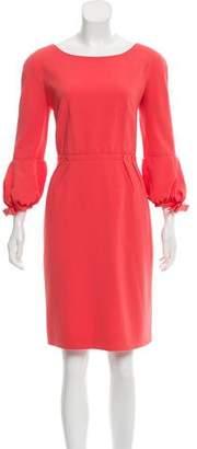 Paule Ka Long Sleeve Sheath Dress
