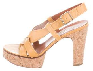 Lanvin Slingback Platform Sandals yellow Slingback Platform Sandals