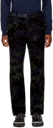 Sacai Black Camouflage Trousers