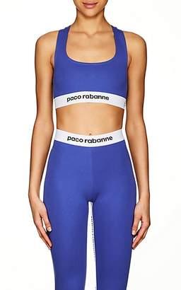 Paco Rabanne Women's Logo Sports Bra - Blue