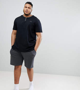 Duke King Size Grandad Neck T-Shirt With Shorts
