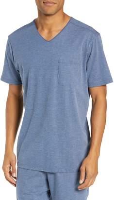 Daniel Buchler Pinstripe Stretch Cotton & Modal Sleep T-Shirt