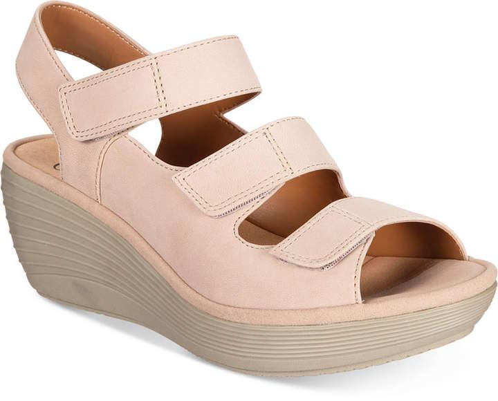 Clarks Women's Reedly Juno Wedge Sandals Women's Shoes