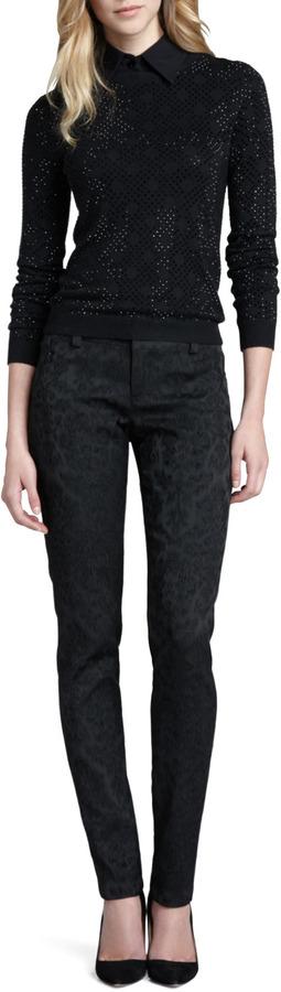 Alice + Olivia Brocade Skinny Pants