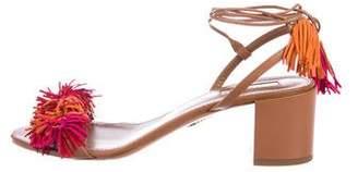 Aquazzura Leather Wrap Around Sandals