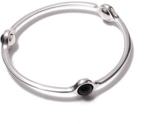 Georg Jensen Sphere sterling silver black agate bangle